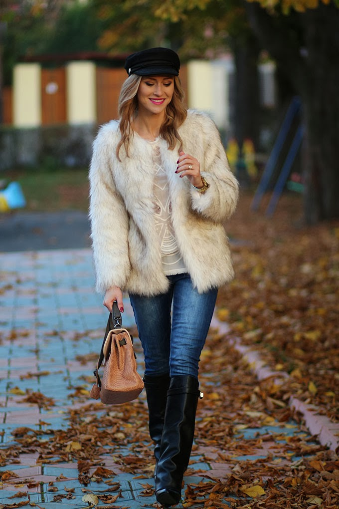 White faux fur coat | Ioana Chisiu | Fashion Beauty u0026 Lifestyle Blog