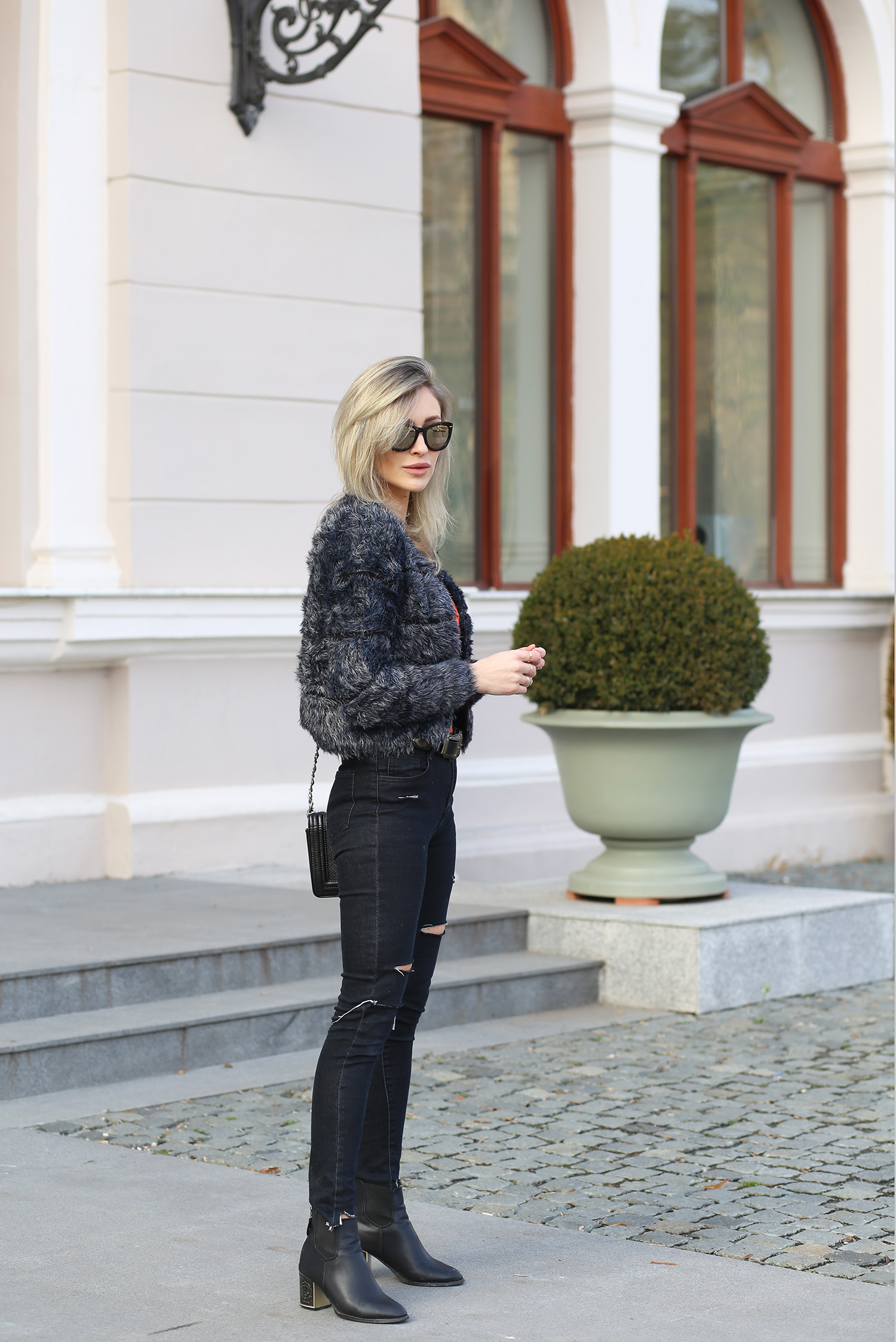 Ripped Jeans And Faux Fur Fashion Spot Bloglovin