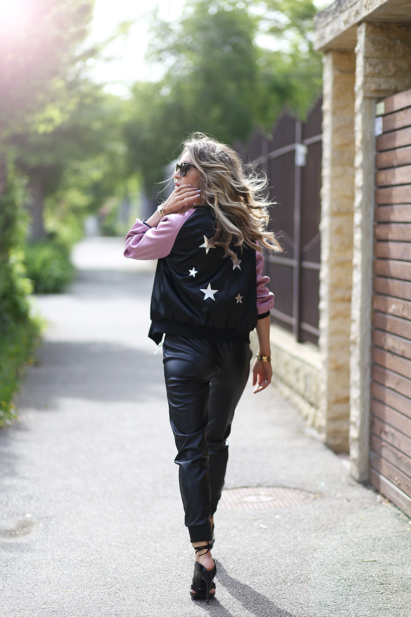 Ce putem face vara cand copii sunt in vacanta - I M Wearing Jacket Divacharms White Top With Message Choies Faux Leather Trousers From New Yorker Shoes Topshop